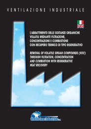 l'abbattimento delle sostanze - Ventilazione Industriale