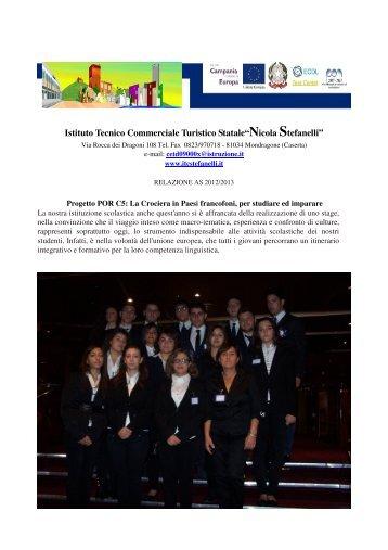 POR C5 Crociera in paesi francofoni - Itcstefanelli.it