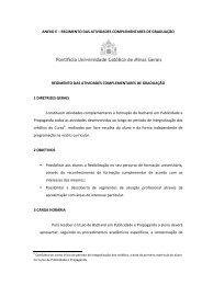 Regimento das Atividades Complementares de ... - PUC Minas