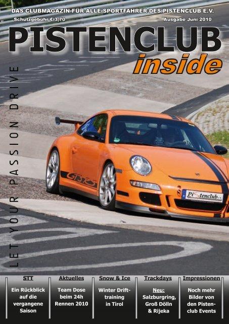 """INSIDE"" MAGAZIN Juni/2010 - Pistenclub"