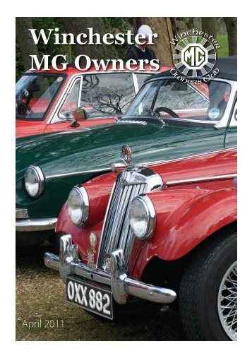 Apr 2011 - Winchester MG Owners Club