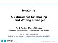 bmp24_io C-Subroutines for Reading and Writing of Images Prof. Dr.
