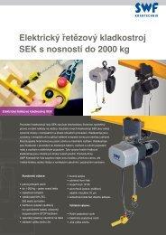 Elektrický řetězový kladkostroj SEK s nosností do 2000 kg - Gutman