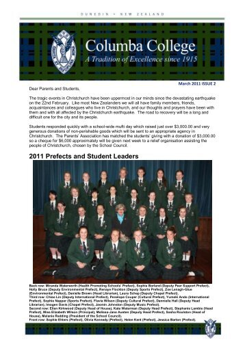 Issue 2 - March 2011 (pdf 1.3 MB) - Columba College