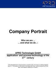 century - APRO© Technologie GmbH