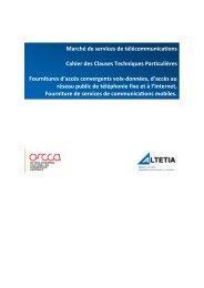 Marché de services de télécommunications Cahier des ... - ORCCA