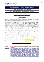 zum Auftragsformular - APO-Audit