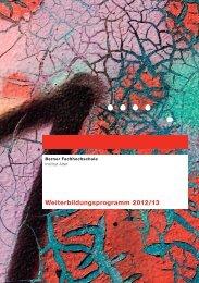 Weiterbildungsprogramm 2012/13 - Institut Alter - Berner ...