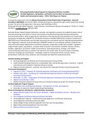 Special Projects Funding - WSU Pesticide Safety Education Program