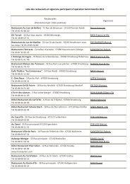 Liste des restaurants et vignerons participant à l'opération Saint ...