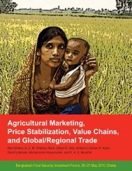 Agricultural Marketing, Price Stabilization, Value Chains, and Global ...