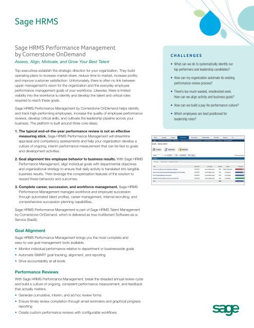 Sage HRMS Performance Management - HRIS