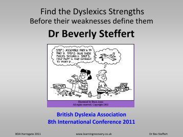 Arts Dyslexia Trust To promote greater understanding and ...