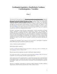 Cardiopatia Isquémica e Insuficiência Cardíaca; Cardiomiopatias e ...