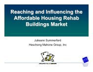 Summerford Influencing Affordable Housing Owners