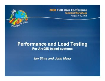 Performance and Load Testing For ArcGIS based systems