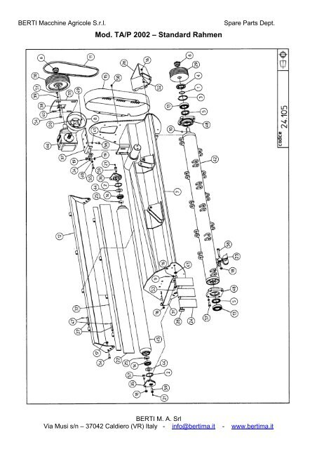 Mod. TA/P 2002 – Standard Rahmen - Special Maskiner A/S