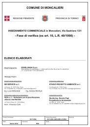 Elenco elaborati - Valutazione Ambientale