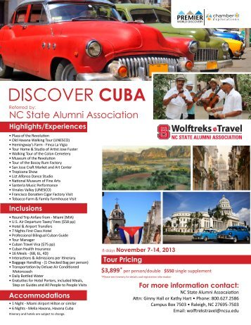 DISCOVER CUBA - NC State Alumni Association