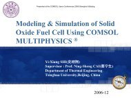 Modeling & Simulation of Solid Oxide Fuel Cell Using COMSOL ...
