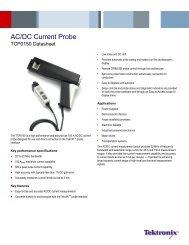 TCP0150 AC/DC Current Probe Datasheet - Tektronix