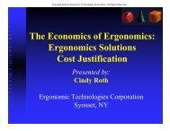 The Economics of Ergonomics - Ergonomic Technologies Corporation