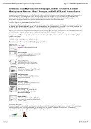 medialand GmbH, Programmierung von Homepage, Webseite ...