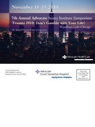 Trauma 2010 - Advocate Health Care