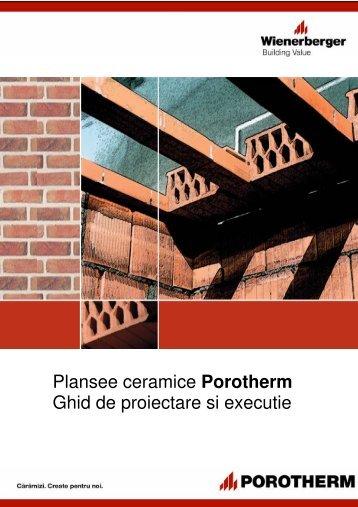 Plansee ceramice Porotherm Ghid de proiectare si ... - Dedeman