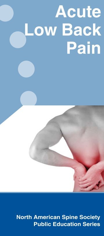 Acute Low Back Pain - KnowYourBack.org