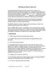 .COM Registry-Registrar Agreement This Registry ... - VeriSign