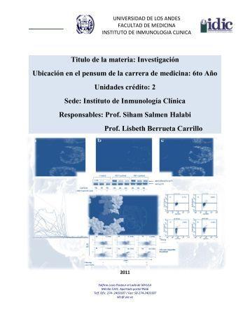 materia: Investigación - Medic.ula.ve - Universidad de Los Andes