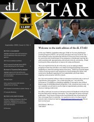 the sixth edition of the dL STAR! - U. S. Army Training Support Center