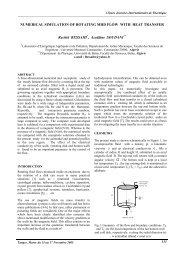 NUMERICAL SIMULATION OF ROTATING MHD FLOW WITH ... - iusti