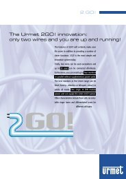 The Urmet 2GO! innovation: only two wires and you are up and ...