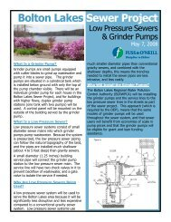 Low Pressure Sewers & Grinder Pumps - Town of Vernon