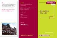 Infoflyer zum Projekt als Download - Duderstadt 2020