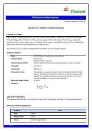 gps summary report 94 c20-c22-alkyl- trimethyl - Clariant