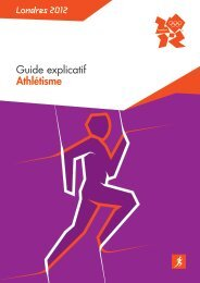 Guide explicatif Athlétisme Londres 2012 - RERO DOC