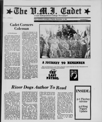 November 13 - New Page 1 [www2.vmi.edu] - Virginia Military Institute
