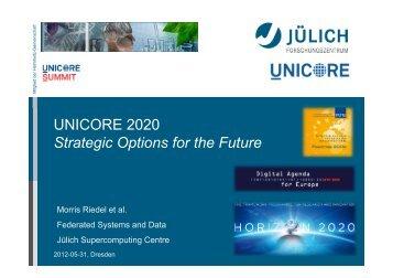 Roadmap Updates towards 2020 - Unicore