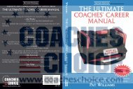 THE ULTIMATE COACHES' CAREER MANUAL