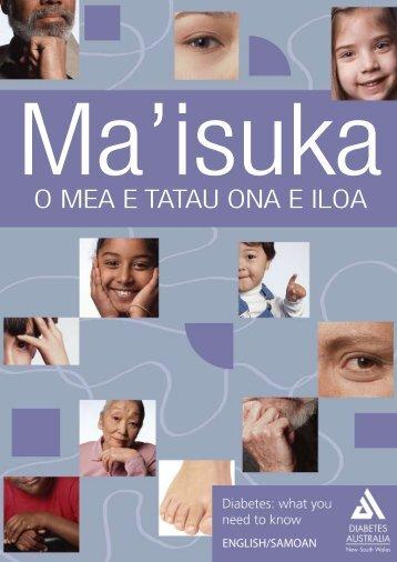 O MEA E TATAU ONA E ILOA - Diabetes Australia - NSW