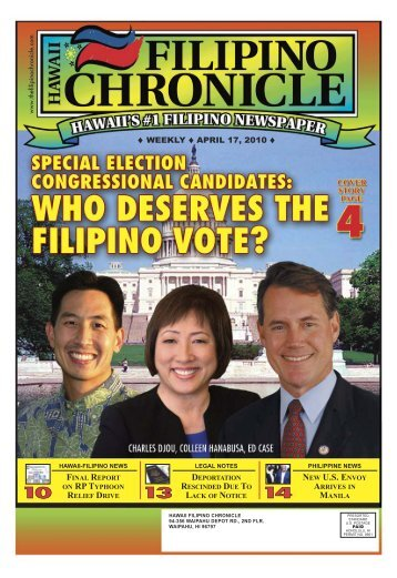 04/17/2010 - Hawaii-Filipino Chronicle