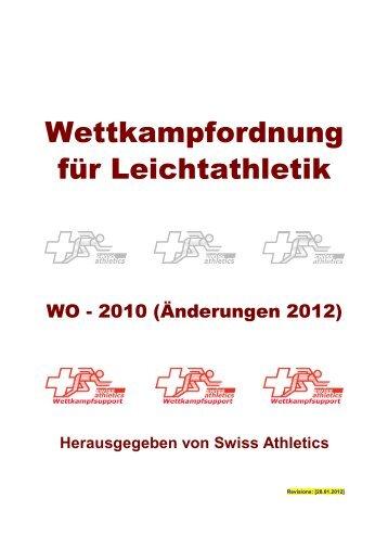 Wettkampfordnung für Leichtathletik - Fédération Suisse de Marche