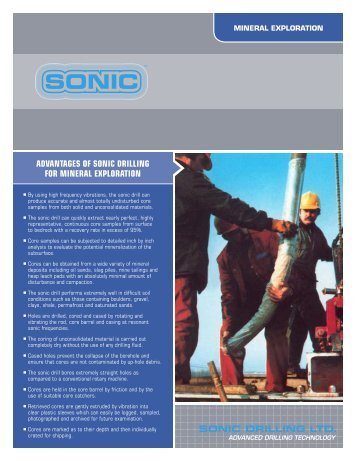 Mineral Exploration - Sonic Drilling Ltd.