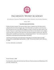 Houston Public Library Teen Reel Fest Entry Form - Incarnate Word ...