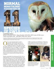 Normal Hematologic Parameters On 11 Species Of Owls ... - Abaxis
