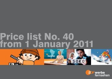 Price list No. 40 from 1 January 2011 - ZDF Werbefernsehen