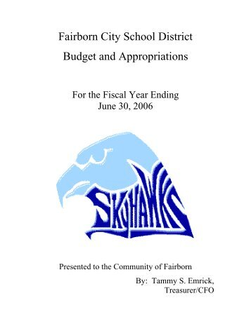 Fairborn City School District Budget and Appropriations